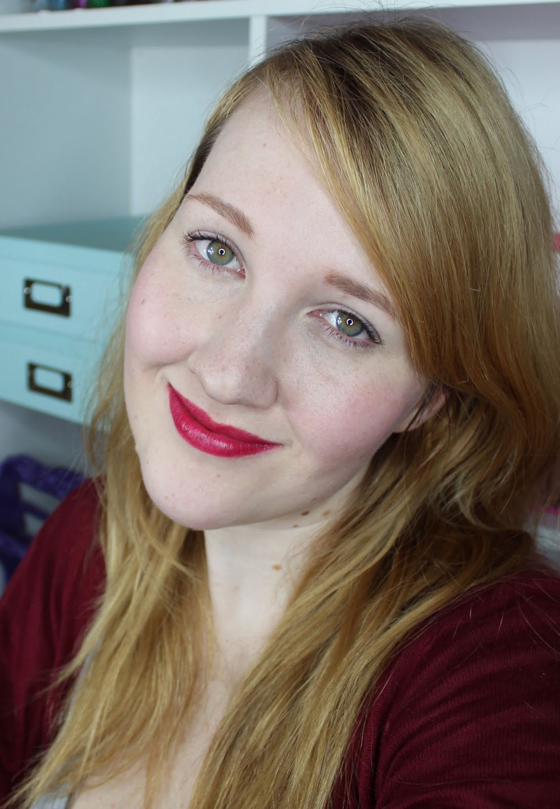 Karen Murrell Racy Rata Lipstick Swatches & Review