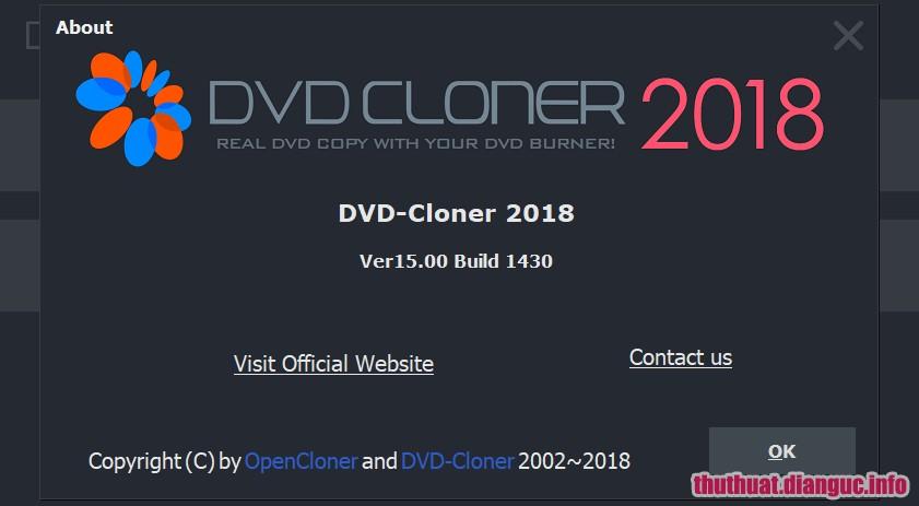 Download DVD-Cloner 2018 15.00.1432 Full Cr@ck – Phần mềm sao chép DVD