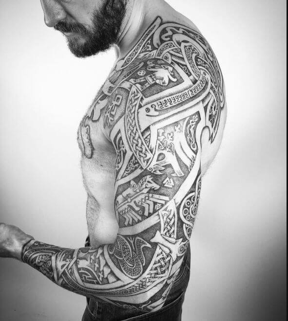 270 traditional viking tattoos for men with meanings. Black Bedroom Furniture Sets. Home Design Ideas