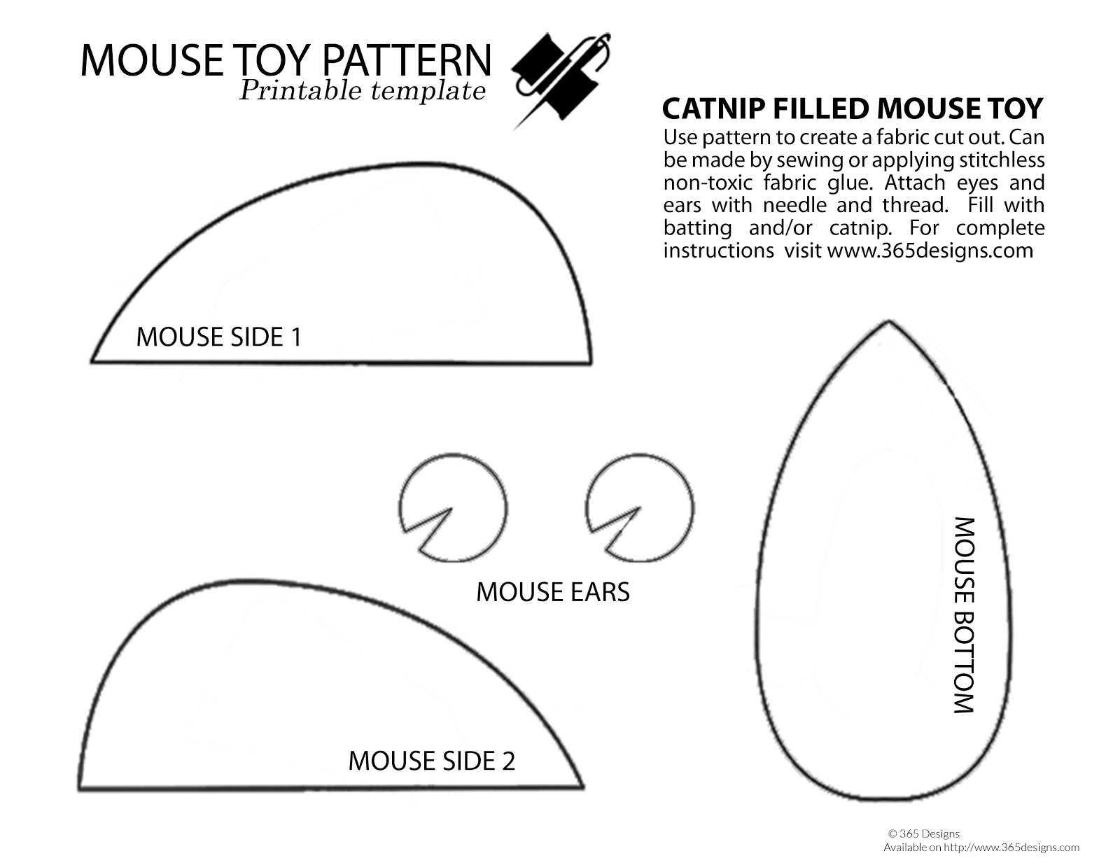 365 Designs: DIY burlap and denim mouse toy