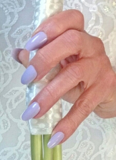 lavender bride nails