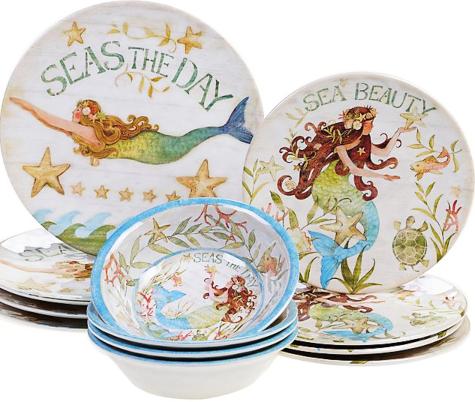 Mermaid Dinnerware Plates