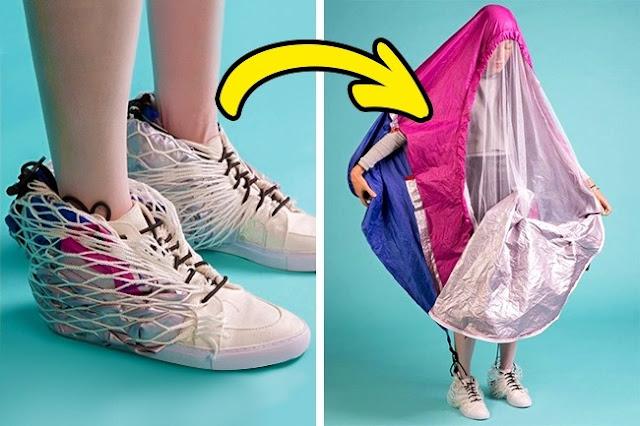 أحذية تتحوّل إلى خيمة