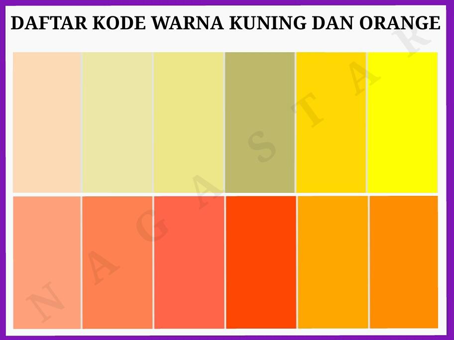 48 Paduan Warna  Orange  Muda