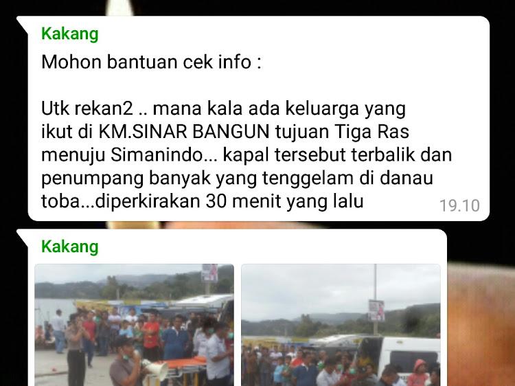 Kapal Penumpang KM. Sinar Bangun Berpenumpang 80an Orang Terbalik di Danau Toba