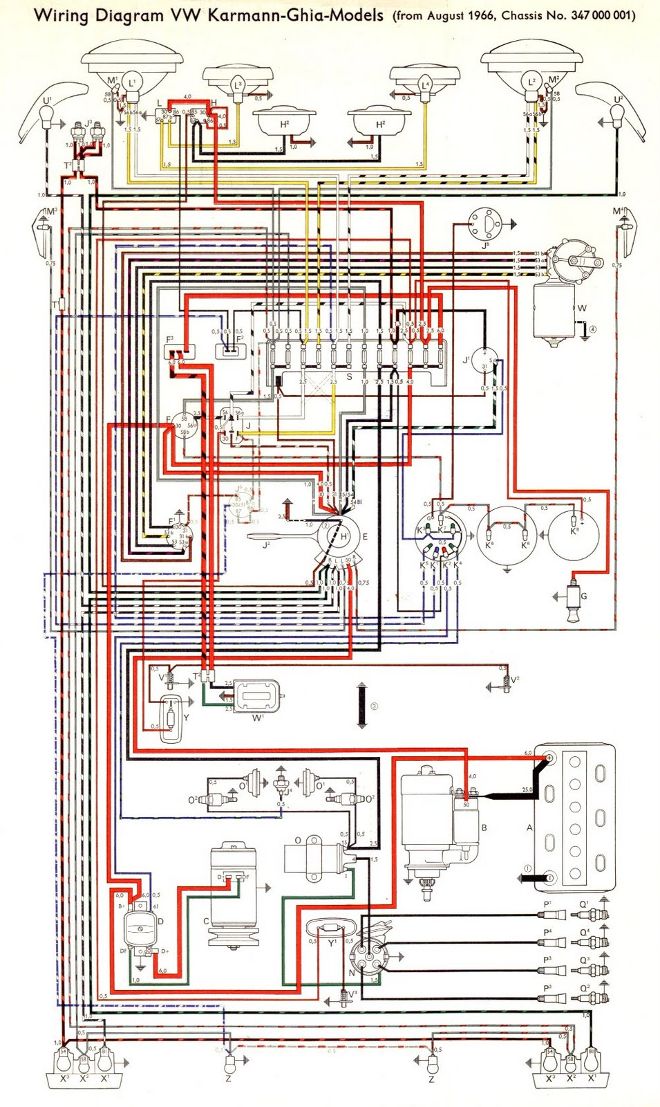 Free Auto    Wiring       Diagram     1966 VW KarmannGhia Models