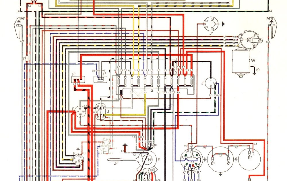 Free Auto Wiring Diagram: 1966 VW KarmannGhia Models