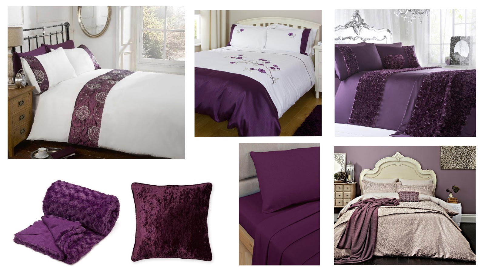 Bedding For Changing Your Bedroom Atomsphere: Plum Moodboard | Katie Kirk Loves