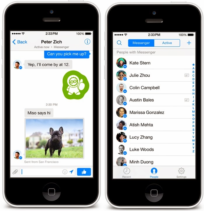 Facebook messenger en iPhone con ios 7