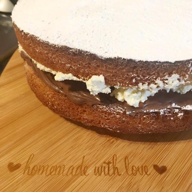 Nutella Victoria Sponge Recipe