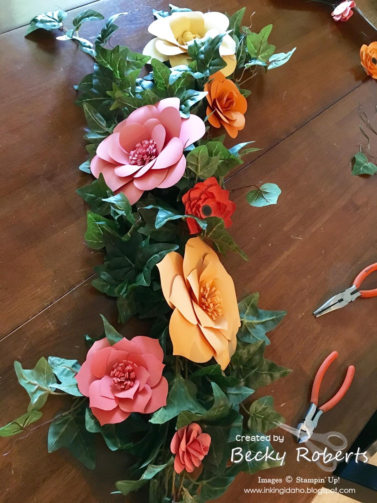 Paper Flower Table Decorations Inking Idaho Bloglovin