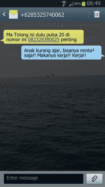 Balasan Kocak SMS Penipuan