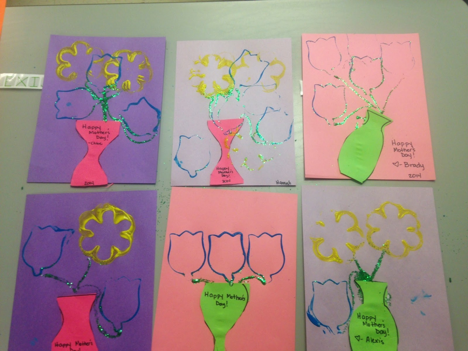 Beautiful Chaos Preschool Mother S Day Vase Of Flower
