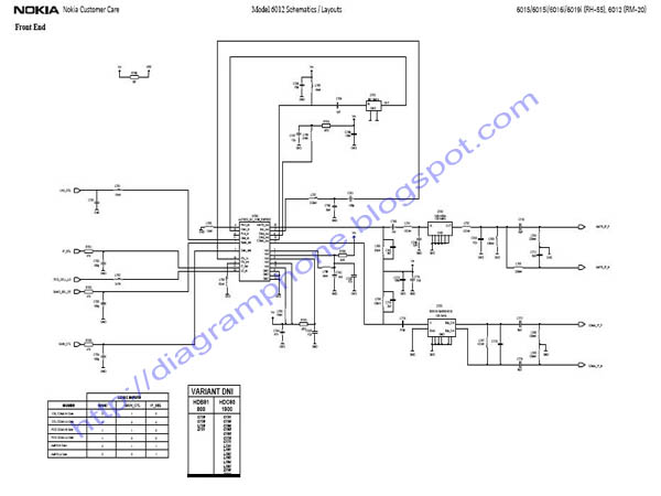 Nokia 6012 Schematic Diagram  RNB GAME  SHOP