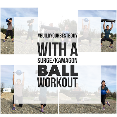 #BuildYourBestBody with a Friday 5 Workout w/ the Surge/Kamagon Ball