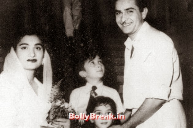 Raj Kapoor was married to Krishna Kapoor. They had five kids together: Randhir, Rishi, Rajiv, Ritu and Reema, Kapoor Family Pics, Kapoor Family Chain, Origin, Caste, Family Tree - Nanda, Jain