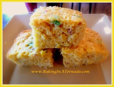 Smoky Cornbread: Cornbread with a twist (or a few). A side dish, a breakfast, and even as an ingredient in my Fall Harvest Stuffing | Recipe developed by www.BakingInATornado.com | #recipe