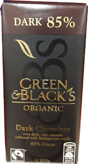 Green & Blacks Dark 85% organic dark chocolate