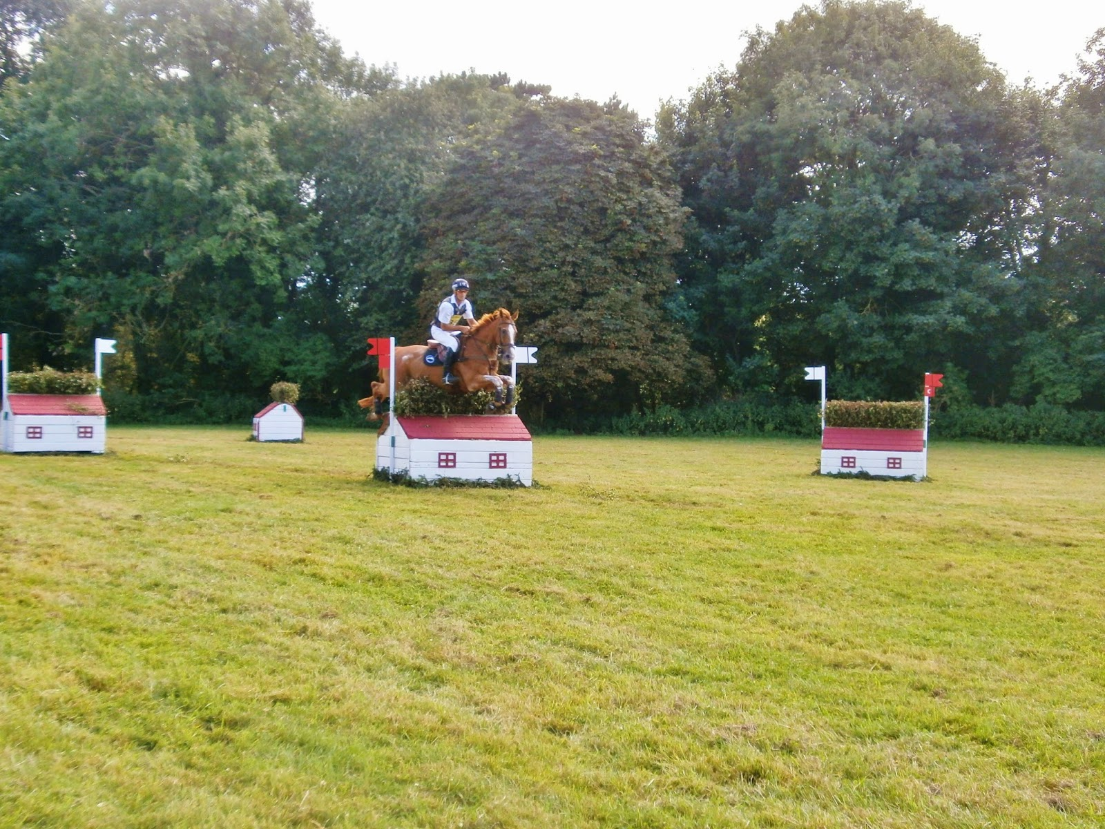 House Cross Country jumps at Gatcombe Festival of Eventing
