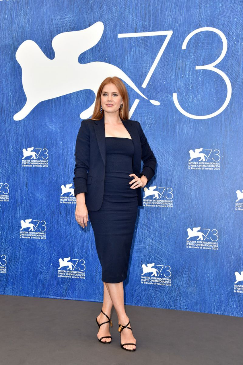 Amy Adams At Noctrunal Animals Phoyocall At 73rd Venice Film Festival HD Photos