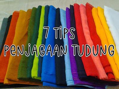 tips penjagaan tudung , tudung bawal , tutorial tudung , kekalkan warna tudung , tips simpan tudung ,
