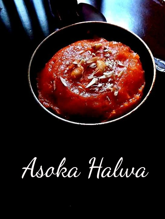 Delicious sweet called Asoka halwa prepared during Diwali