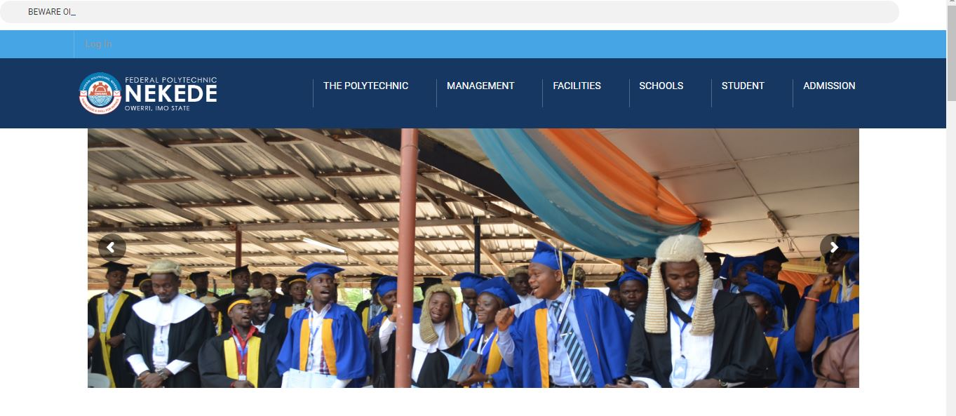 Fed. Poly Nekede ND (Evening And Weekend) Admission List 2016/2017 Released-Check yours