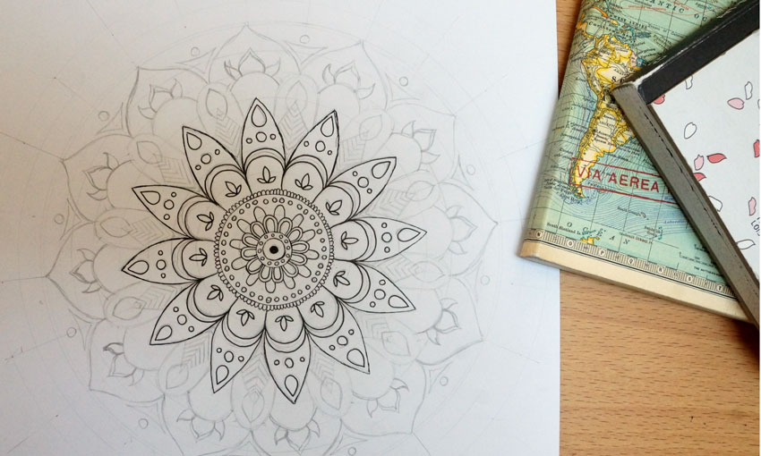 Mandala Hand Drawn
