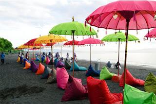 Area Wanita di Pantai Syariah Pulau Santen, Banyuwangi