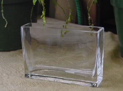 Rectangular Glass Vases