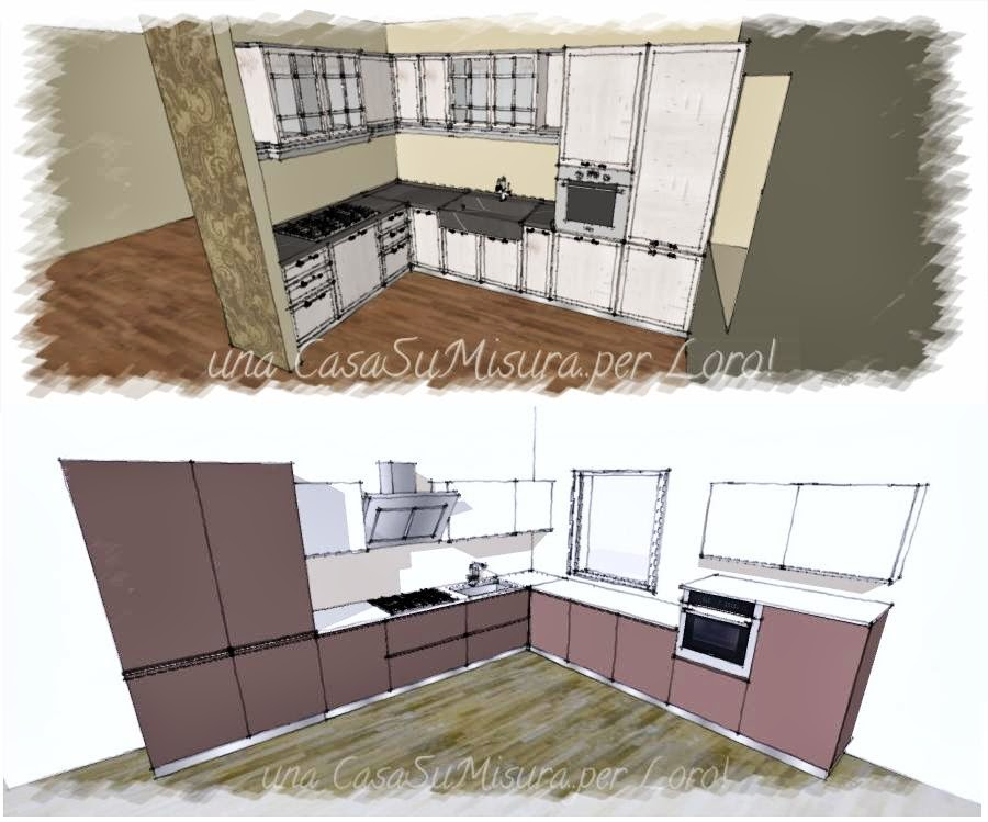 Una casasumisura per loro come progettare la cucina - Cucine moderne ad angolo con isola ...