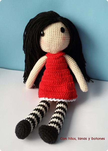 Con hilos, lanas y botones: Muñeca Gorjuss amigurumi