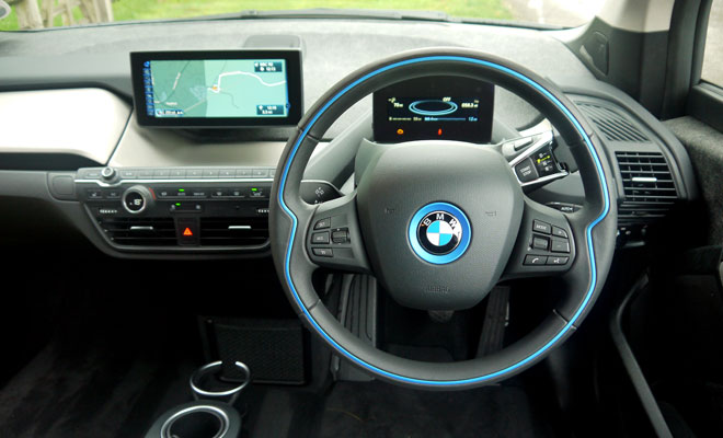BMW i3 Rex steering wheel