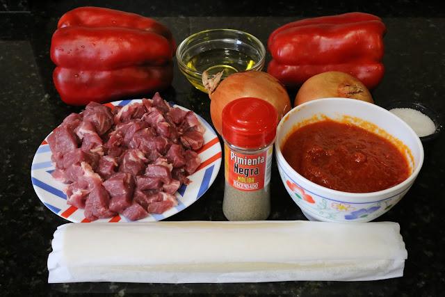 Ingredientes para empanada de carne