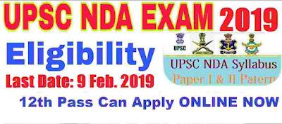 UPSC NDA Examination 2019