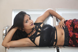 Shriya Vyas in a Tight Backless Sleeveless Crop top and Skirt 14.JPG