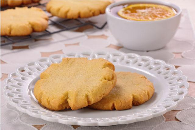 Receta de POLVORONES DE NARANJA con mantequilla