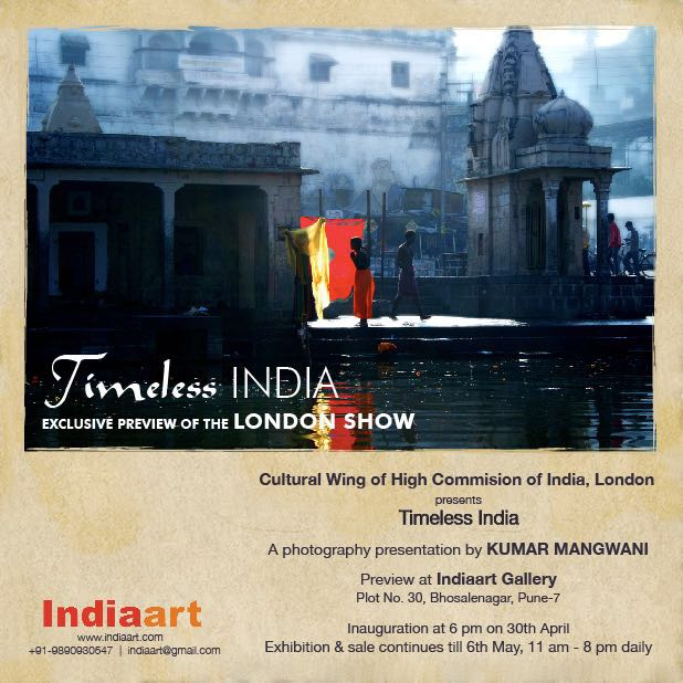 Timeless India, a photography presentation by Kumar Mangwani at Indiaart Gallery, Pune (www.indiaart.com)