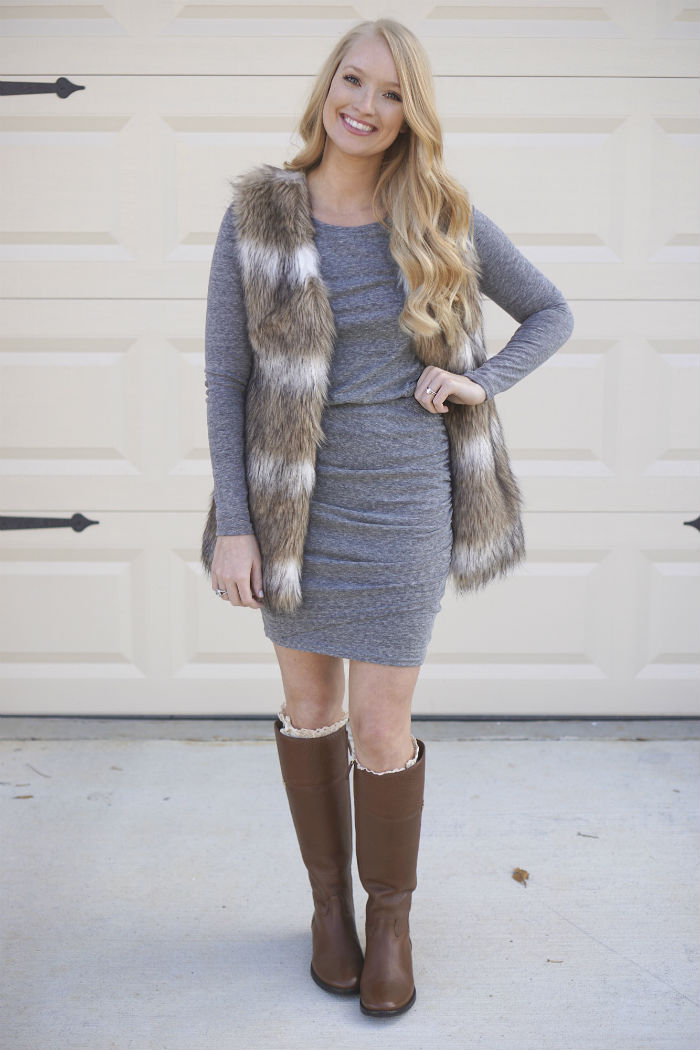Affordable Nordstrom Dresses, Fall Fur vest, affordable fur vest