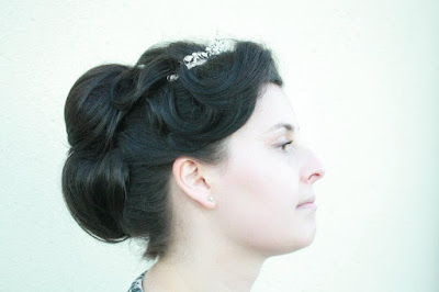 Vintage Wedding hair in Aberdeen