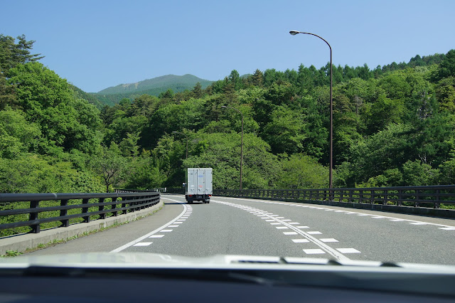 木曽をSLKでドライブ