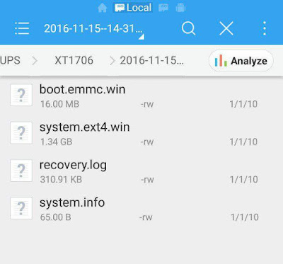 Hasil extract TWRP backup