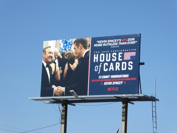 House of Cards season 4 Emmy nomination billboard
