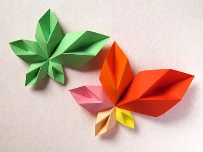 Origami modulare: Stella floreale spiraliforme - Spiral floral star by Francesco Guarnieri