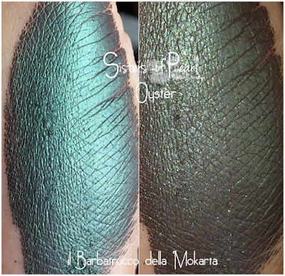Oyster eyeshadow swatches Sisters Of Pearl  Neve Cosmetics