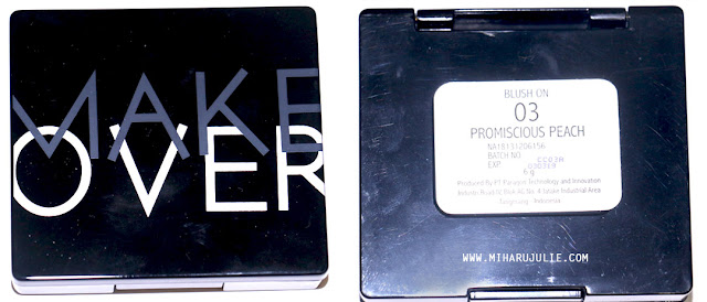 make over blush on promiscious peach 03 review