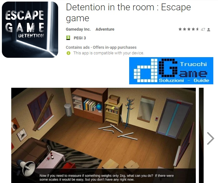 Soluzioni Detention in the room : Escape game