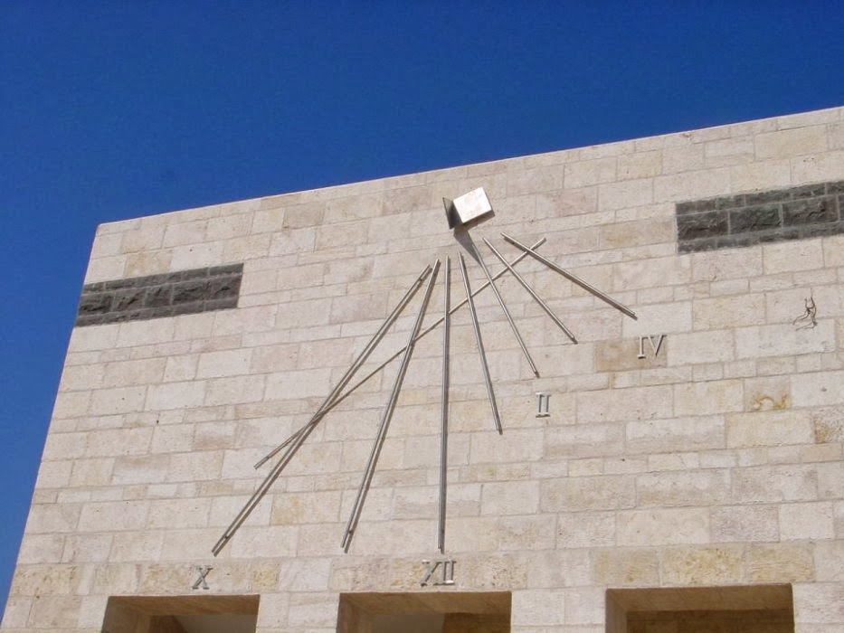 Sundial in Beit-Shean's guest house,