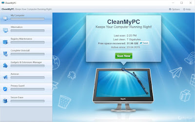CleanMyPC Essential PC cleaning software