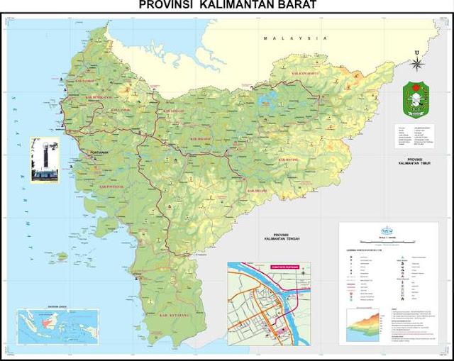 download peta kalimantan barat ukuran besar